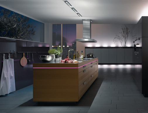 Kitchen planning and design unusual kitchen lighting ideas for Kitchen led lighting