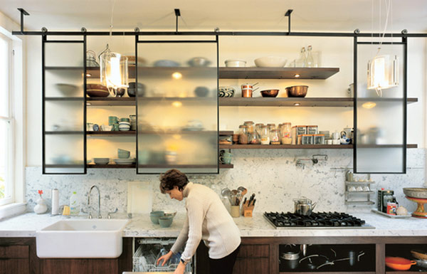 design caller selected spaces in the kitchen cabinets kitchen shelf shelves - Open Shelves Kitchen Design Ideas