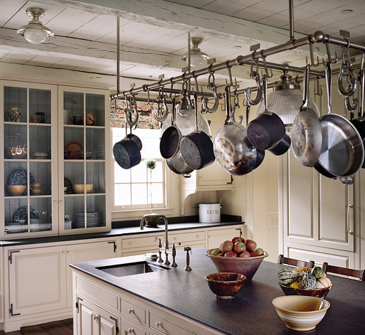 Pictures To Hang In Kitchen: Kitchen Planning And Design :: Pot Racks