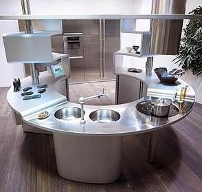Snaidero Acropolis - an unusual kitchen layout
