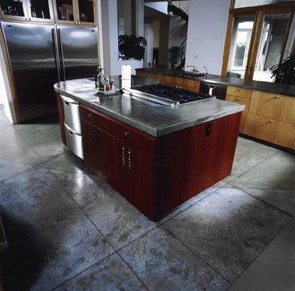 concrete kitchen floor
