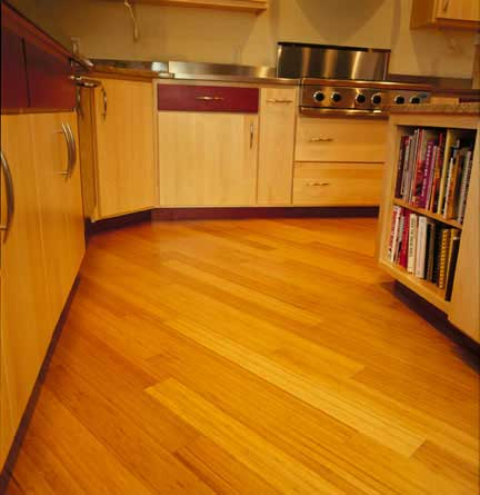 Bamboo kitchen floor