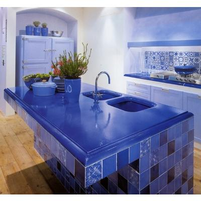 Google image result for for Blue countertop kitchen ideas