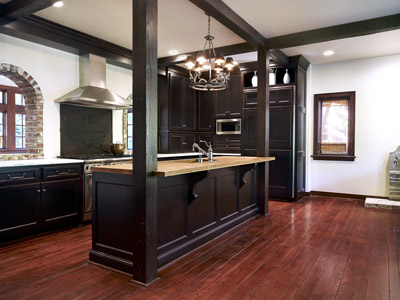 Kitchen planning and design kitchen remodeling in a for Wood floors in kitchen
