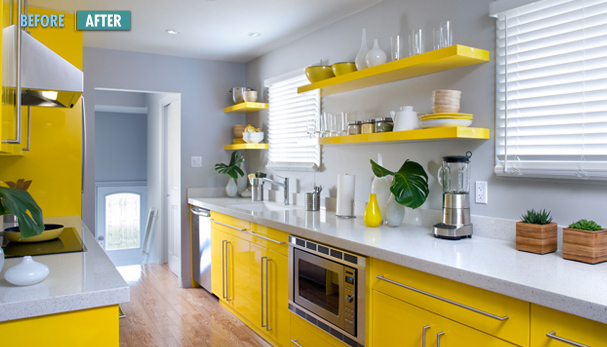 Kitchen Planning And Design Modern Gray And Yellow Kitchen